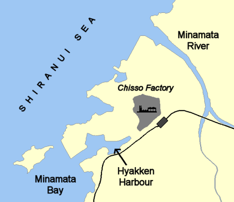 minamata_map_illustrating_chisso_factory_effluent_routes2