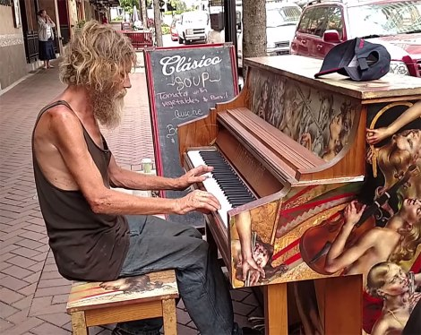 Homeless pianist