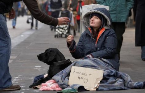 young homeless