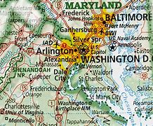 Image result for map of virginia and dc